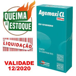 Agemoxi 250mg 10 Comprimidos Agener - Liquidação