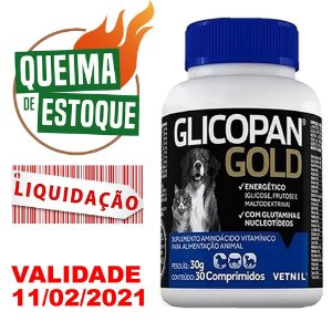 Glicopan Gold 30 Comprimidos Vetnil - Liquidação