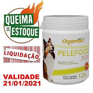 Suplemento Vitamínico Organnact Pelefood Dog 120g - LIQUIDAÇÃO
