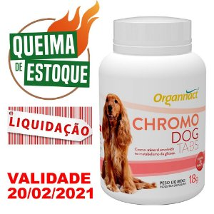 Chromo Dog 30 Tabletes / 18g - Organnact - LIQUIDAÇÃO