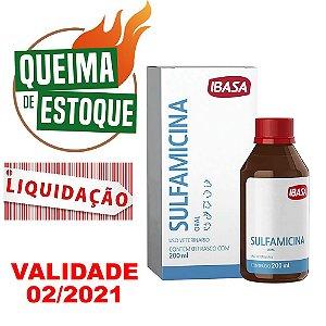Sulfamicina Oral 200ml - Ibasa - LIQUIDAÇÃO