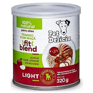 Ração Úmida Para Cães Pet Delicia Light Frango e Maça 320g