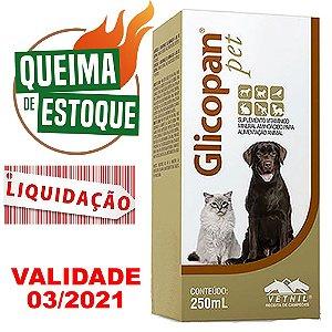 Suplemento Vitamínico Glicopan Pet 250ml - Vetnil - LIQUIDAÇÃO