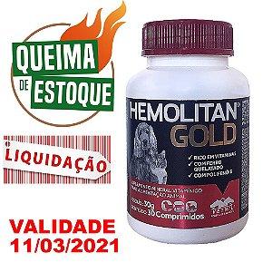 Suplemento Vitamínico Hemolitan Gold 30 Comprimidos Vetnil - Liquidação
