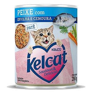 Kelcat Patê Lata Peixe com Ervilha e Cenoura 280g