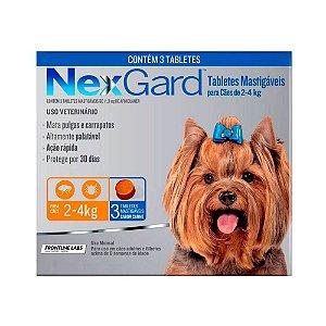 Nexgard Antipulgas E Carrapatos Cães 2 A 4kg - 3 Tabletes