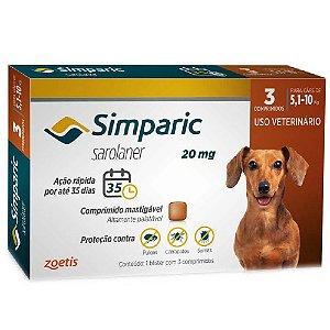 Simparic Antipulgas 20mg 5 A 10Kg Cx 3 Comprimidos - Zoetis