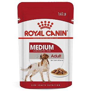 Ração Úmida Royal Canin Medium Adult Cães Adultos Porte Médio Wet 140g