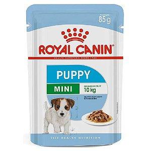 Ração Úmida Royal Canin Mini Puppy Cães Filhotes Porte Pequeno Wet 85g