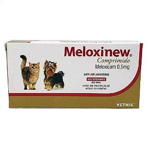 Anti-Inflamatório Meloxinew 0,5mg Cães e Gatos 10 Comprimidos Vetnil