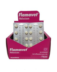 Anti-Inflamatório Flamavet 2,0mg - 10 Comprimidos Cartela Avulsa + Bula