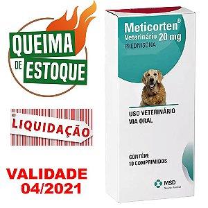 Meticorten 20mg 10 Comprimidos - MSD - LIQUIDAÇÃO