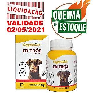 Organnact Eritrós Dog Tabs 18g 30Cps - LIQUIDÇÃO