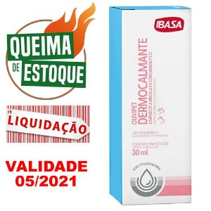 Dermocalmante Ouvipet Ibasa 30ml - LIQUIDAÇÃO (VAL.05.21)