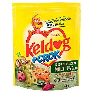 Biscoito Keldog +Crok Integral Multi Com Vegetais 400g