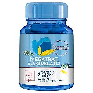 Megatrat 6.3 Quelato  39g 60 capsulas - Nutri & Trat
