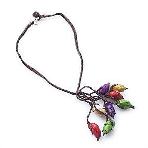 Colar Penca Flor de Inajá com Crochê