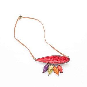 Colar canoinha com flor de inajá