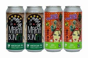 Pack 6: 2 latas da Maria BonIPA e 2 latas da Maria APArecida - 473ml cada