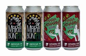 Pack 7: 2 latas da Maria BonIPA e 2 latas da Maria CATHARINA SOUR Framboesa - 473ml cada
