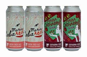 Pack 12: 2 latas da Maria LabaREDa com Pimenta e 2 latas da Maria CATHARINA SOUR com Framboesa - 473ml cada