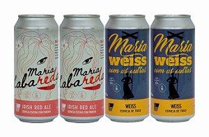 Pack 13: 2 latas da Maria LabaREDa com Pimenta e 2 latas da Maria WEISS Com As Outras - 473ml cada