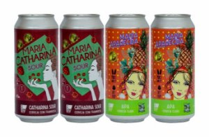 Pack 10: 2 latas da Maria CATHARINA SOUR Framboesa e 2 latas da Maria APArecida - 473ml cada