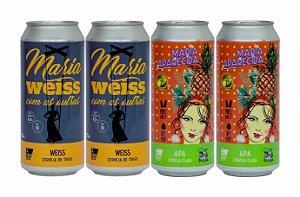Pack 14: 2 latas da Maria WEISS Com As Outras e 2 latas da Maria APArecida - 473ml cada