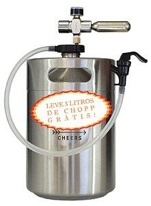 Chopeira iKeg - Torneira Plástica 5L - *Grátis 5 Litros de Chopp + Voucher de Desconto para Recarga do Chopp