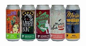 Pack Exclusivo com 5 Marias da Bloco7 Cervejaria