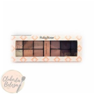 Naughty by nature palette - Ruby Rose Kit de sombras com 12 cores + primer