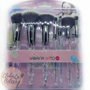 Kit de pincéis - Sabrina Sato Contém 7 pincéis SS-551