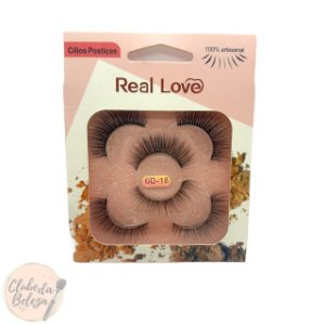 Cílios Postiços 3 pares 6D-18 - Real Love