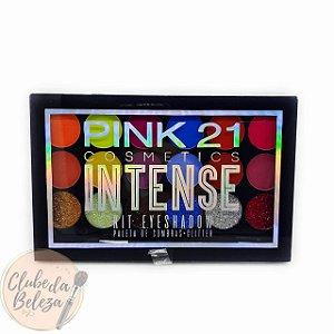 Paleta de Sombras + Glitter Intense  Color 2 - Pink 21