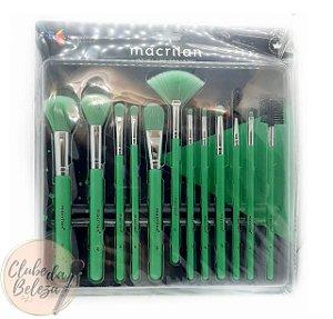 Kit com 12 Pincéis EN001 Neon - Macrilan (cores sortidas)