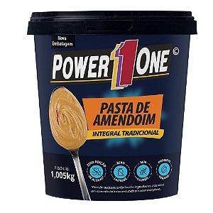 Pasta de amendoim integral tradicional 1,005Kg Power1one