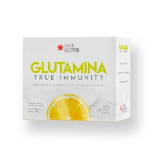 Aminoácido Glutamina True Imunity Limão 180 g True Source