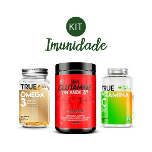 Kit Imunidade 1 Ômega 3, Glutamina e Vitamina C True Source