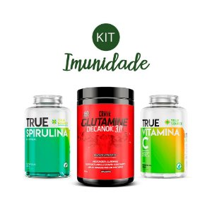 Kit Imunidade 2 Spirulina, Glutamina, Vitamina C True Source