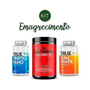 Kit Emagrecimento 1 Triptofano, Glutamina e Slim Shape True Source