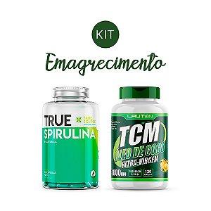 Kit Emagrecimento 3 Spirulina True Source + TCM Óleo De Coco Extra-Virgem Lauton Nutrition