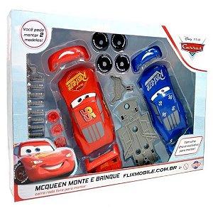 McQueen com 2 Carros Monte e Brinque Disney  – Toyng