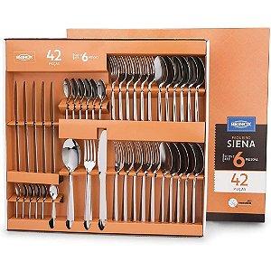 Faqueiro Siena em Aço Inox com 42 Peças Prata - Brinox