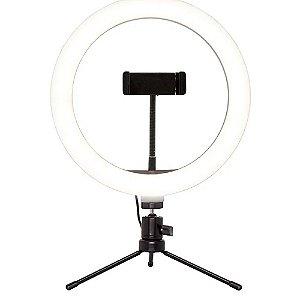 Suporte Ring Light Livestream Tripé Ajustavel - Multilaser