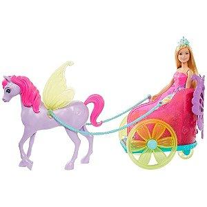 Boneca Barbie Dreamtopia Princesa com Carruagem – Mattel