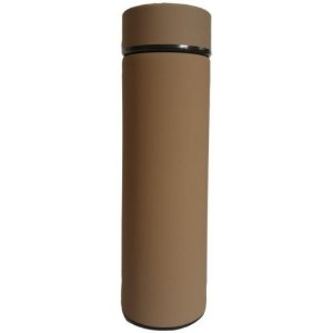 Garrafa Térmica Squeeze com Filtro Marrom Claro - UnyHome