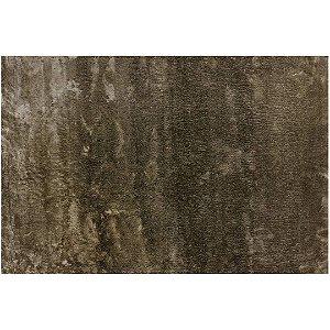 Tapete Retangular Skin em Poliéster 100x50cm Bege – Via Star