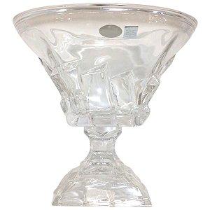 Centro de Mesa Taça em Cristal de  Vidro Decorado - Bohemia