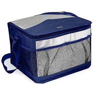 Bolsa Térmica c/Alça 15 Litros Azul Marinho em Poliéster Mor