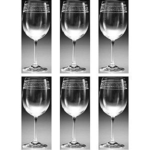 Conjunto de Taças Sara Pantografadas Cristal de Vidro - Rona